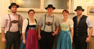 Die neuen Peitinger Jugendleiter (von links): Christian Schelle, Regina Thiel, Siegfried Barnsteiner, Johanna Brey und Stefan Barnsteiner