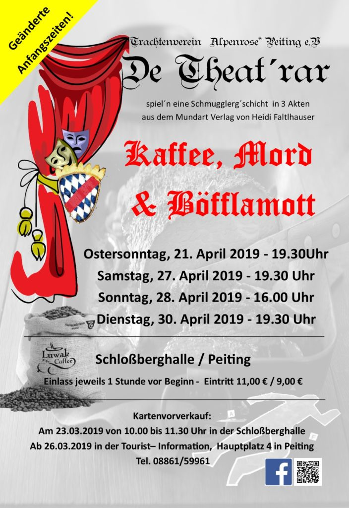 """Kaffee, Mord & Böfflamott"" – Theater 2019"